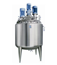 Jacketed Vessels with welded top disc with top drive Stirrer, Agitator & Homogenizer