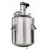 JPlain Reactor with welded top disc with top drive agitator